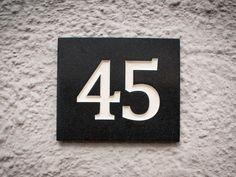 Number Sign - Dark Corian