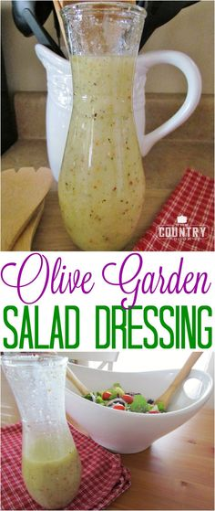 Copycat Olive Garden Salad Dressing recipe from The Country Cook