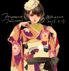 Find images and videos about girl, cute and anime on We Heart It - the app to get lost in what you love. Anime Kimono, Manga Anime, Anime Art, Geisha, Yukata, Beautiful Anime Girl, Japan Girl, Kawaii, Illustration Girl