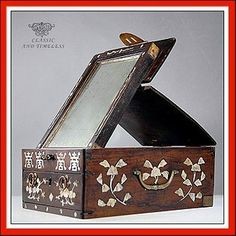 Chinese Mother of Pearl Mirror Box