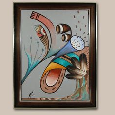 "#adobegallery - Original painting – Untitled, Modernist Hopi Subjects. Delbridge Honanie (1946- ) Coochsiwukioma – Falling White Snow      Category: Paintings     Origin: Hopi Pueblo     Medium: Acrylic on canvas board     Size: 23-5/8"" x 17-5/8"" image;     27-3/8"" x 21-3/8"" framed     Item # C3736R"
