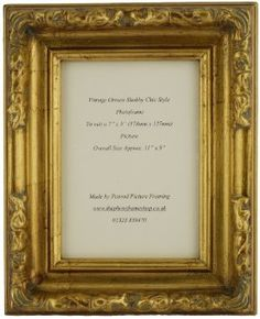 "Antique Gold Shabby Chic Ornate Swept Vintage Picture Frame For a 7"" x 5"" (175mmx125mm) Photo: Amazon.co.uk: Kitchen & Home"