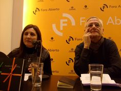 El autor Paco Abril con la editora, Ana Chicano.