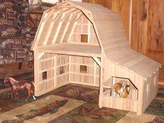 Custom Made Wooden Toy Barn #3