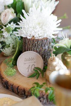 #Centerpiece #Tree #WeddingDecor #Log #Flowers