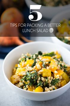 5 smart strategies for packing a better lunch for work: let's all agree that it's time to ditch the Mason jar for packing salads. It looks nice, but it's just not practical. Try these tips when you're prepping your next salad to bring to work for the ultimate healthy and delicious office lunch!