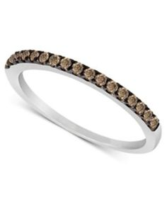 Le Vian Chocolate Diamond Pave Band (1/4 ct. t.w.) in 14k White or Rose Gold - Gold