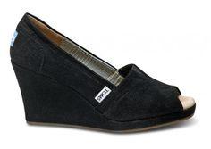 Black Cord-wrap Toms. Oh *le sigh*!