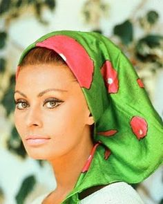 Sophia Loren, she looks fabulous in this photograph regal with her bone structure!