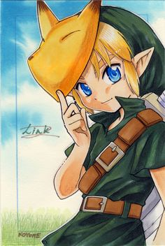 Link wearing the Keaton Mask