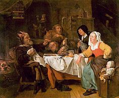 La Fête des Rois ou Le Roi boit. Gabriel Metsu. 1650-1655. Alte Pinakothek, Munich
