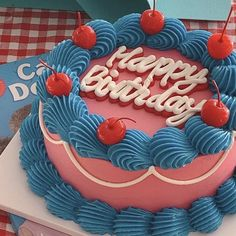 Pretty Birthday Cakes, Pretty Cakes, Beautiful Cakes, Fancy Cakes, Mini Cakes, Cupcake Cakes, Simple Cake Designs, Korean Cake, Pastel Cakes