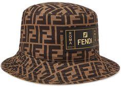 23274aa5 Fendi - Reversible Logo-Print Cotton Bucket Hat