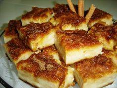 INGREDIENTES 05  pães  franceses  01 litro de leite  04 xícaras (de chá) de açúcar  06 ovos  01 colher (de sobremesa) de fermento...