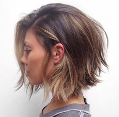 stunning inverted choppy bob - love the tousled, messy look!