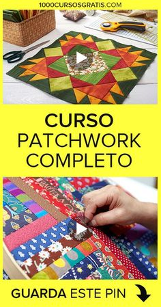 If you want to learn patchwork, then we bring this free patchwork course … Patchwork Tutorial, Patchwork Quilt Patterns, Crazy Patchwork, Patchwork Fabric, Patchwork Designs, Quilting Designs, Patchwork Ideas, Sewing Hacks, Sewing Projects