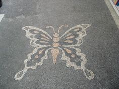 Bali pebble mosaic Big butterfly