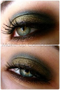 I'm loving this makeup even though my eyes are NOT that color :)