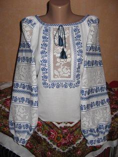 Неймовірно красива вишиванка, жіноча вишивана блузка на домотканому полотні (Арт. 02053)