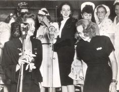 Marlene Dietrich with Bette Davis at The Hollywood Canteen