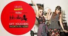 Play the Contest of Grazia FabAlley and a chance to win 2 Vouchers worth Rs 4000 each  http://gettopdeals.blogspot.in/2014/05/play-contest-of-grazia-faballey-and.html