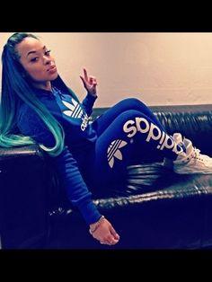 d4aca1a02a88d sweater adidas sneakers heather sanders jeans tracksuit joggers black girls  killin it white sneakers blue pants blue sweater adidas sweater blue adidas  ...