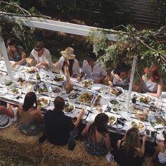@luisabrimble | @Kinfolk Farm Magazine (kinfolk.com) kinfolk table long lunch at Lisa Madigan's Cottage