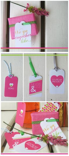 FREE downloadable valentine gift tags in neon trend colours..too cute!