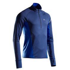 Bluză Alergare Kiprun Warm Light Bărbaţi KIPRUN - Decathlon.ro Short Running Homme, T Shirt, Athletic, Warm, Zip, Jackets, Clothes, Sport, Running