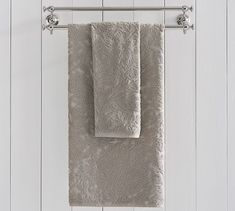 Isaac Floral Sculpted Bath Towels | Pottery Barn