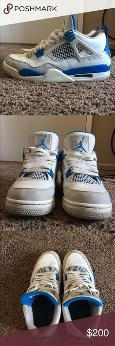 Jordan military 4s Good condition  Size 9.5 Jordan Shoes Sneakers