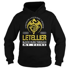 LETELLIER Blood Runs Through My Veins (Dragon) - Last Name, Surname T-Shirt