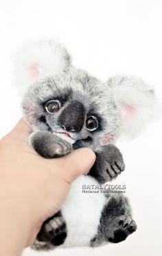 koala teddy toy stuff ooak Natalytools Natalia Tolstykina