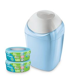 Tommee Tippee Sangenic Nappy Disposal System – Blue - bins - Mothercare