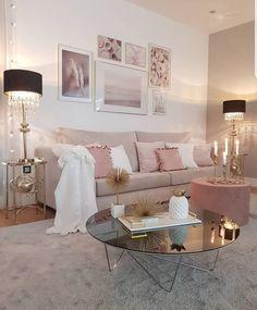 Best Interior Home Design Trends For 2020 - Interior Design Ideas Blush Living Room, Decor Home Living Room, Cozy Living Rooms, Living Room Designs, Bedroom Decor, Living Room Inspiration, Home Decor Inspiration, Home Decor Shops, House Design