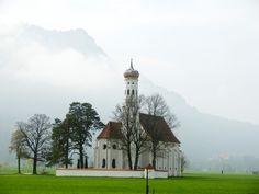 Kościół św. Kolomana, #Bawaria, #Szlakiem Zamków Ludwika Bawarskiego