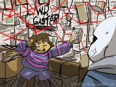 """""""That right there is the phone. Now let's talk about the phone. Can we talk about the phone, please, Sans? I've been dying to talk about the phone with you all day, OK? """"W.D. Gaster,"""" this name keeps..."""