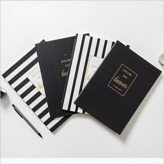 """Discover"" Lined Notebook Pack of 4 Exercise Book Journal Study Planner Agenda #Unbranded"
