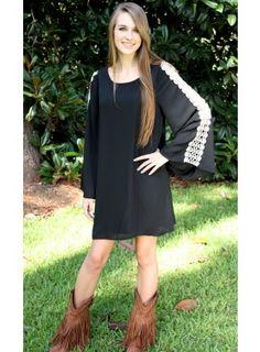 Windsor Lane Black Dress