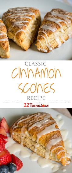 Classic Cinnamon Sugar Scones | These cinnamon sugar ones have just the right amount of sweetness without going overboard…they melt in your mouth, just as good scones should!