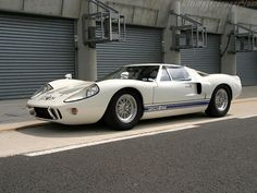Ford GT-40. This car won the 24 Hours of Le Mans in 1966, 1967, 1968, and 1969. Amazing...