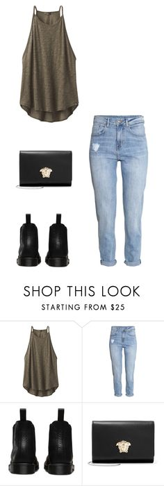 """""""Untitled #316"""" by doda-laban on Polyvore featuring prAna, H&M, Dr. Martens and Versace"""