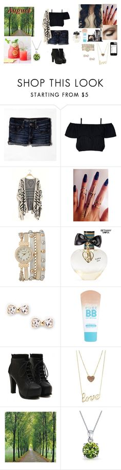 """""""Outfit of the Month #August"""" by pumpkinpie432 ❤ liked on Polyvore featuring American Eagle Outfitters, LORAC, maurices, Aéropostale, Sole Society, Maybelline, Charlotte Russe, WALL, Bling Jewelry and kimberlyoutfitofthemonth"""