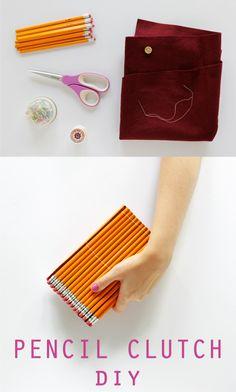 Original bolso de mano con lápices
