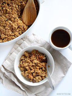 """""""Oatmeal Cookie"""" Baked Oatmeal - BudgetBytes.com"""