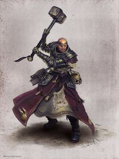 Prêtre de Sigmar, par Ilich Henriquez, in Warhammer Quest the card game, par Fantasy Flight Games