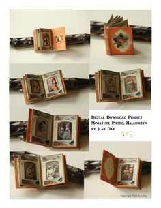 Halloween Photo Album Printable Project, Dollhouse Miniature Instant Digital Download  DH007