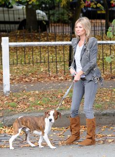Famous people (Kate Moss) + Dogs