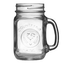 #5: Libbey Country Fair 16-Ounce Drinking Jar with Handle, Set of 12