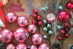 Beautiful Vintage Christmas ornaments.  Rachel Denbow's home.